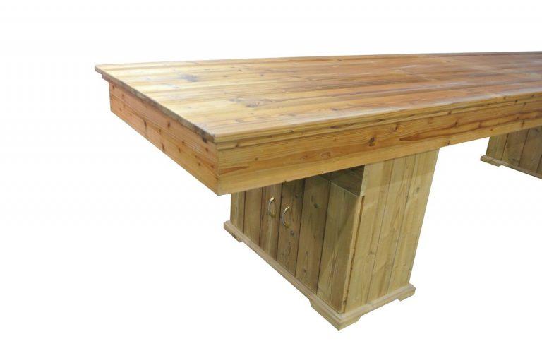 Gobi shuffleboard with a table top